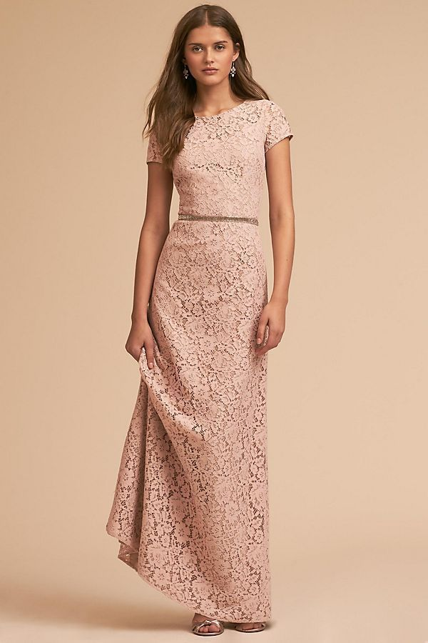 a8e3cc04684c Anthropologie ~ BHLDN. Deja Dress. by Donna Morgan. Stunning Floral Lace  Crafted into a Feminine Cap Sleeve Bodice. Poly Lace - Fully Lined Except  for ...