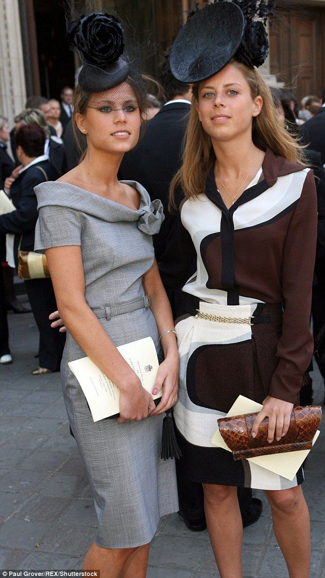 The stylish duo will one day inherit their family company, which boasts Edinburgh's Balmoral, London's Browns and Florence's Hotel Savoy among its roster of luxury hotels. Pictured at the Memorial Mass for their grandfather Lord Forte, who died in February 2007 aged 98