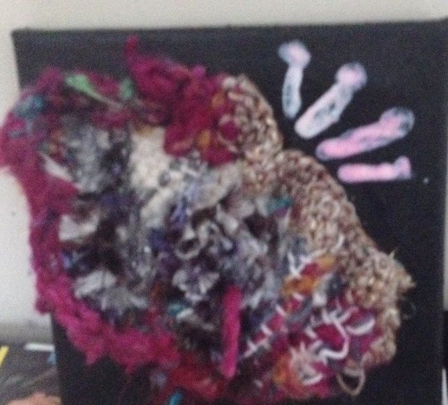 Mixed fibre sea anemone