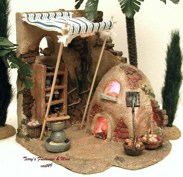 fontanini italy 5 lighted bakery 4pc nativity village. Black Bedroom Furniture Sets. Home Design Ideas