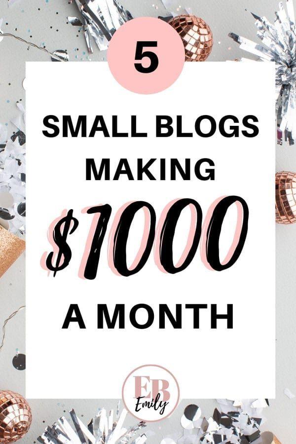 Möchten Sie mit einem kleinen Blog Geld verdienen? Sehen Sie sich an, wie diese Blogger 1.000 USD pro Jahr verdienen …   – Blogging & Writing