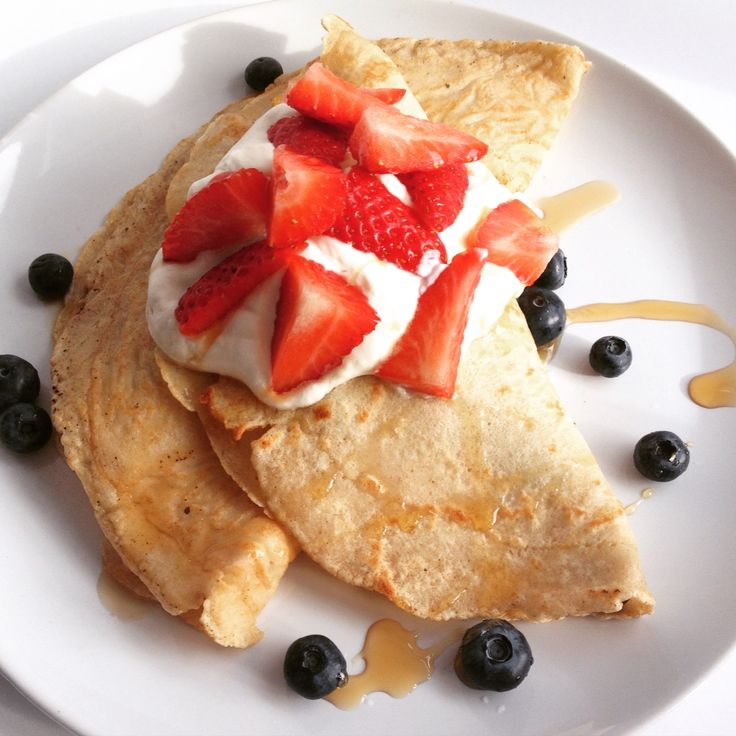 ... strawberries and blueberries and topped with maple whipped cream