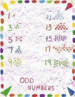 Waldorf ~ 1st grade ~ Math ~ Odd Numbers ~ main lesson book