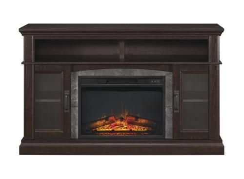 "Whalen® 54"" Halsted Electric Fireplace Entertainment Center at Menards®: Whalen® 54"" Halsted Electric Fireplace Entertainment Center in Dark Espresso"