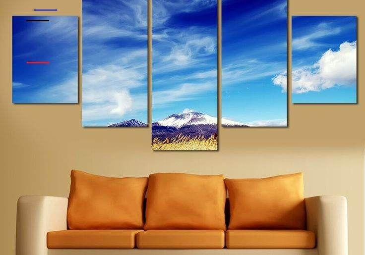28 Lukisan Pemandangan Langit Us 7 06 49 Off Baru Lukisan Pemandangan Langit Biru Hd Gambar Lukisan Kanvas Lukisan Gambar Dinding Untuk Ruang Tamu W En 2020 Decoration