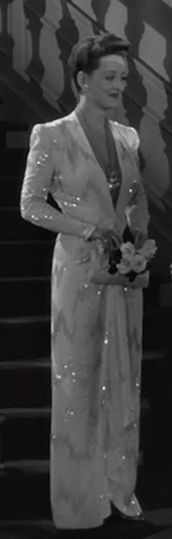 """orry kelly gowns   ... Polito manages to make those beads in this Orry-Kelly gown dance (Bette Davis in """"Now Voyager"""")"""