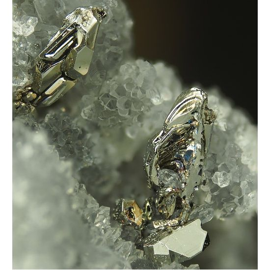 Sylvanite & Tellurium, Emperor Mine, Viti Levu, Fiji. Specimen hosting crystallized tellurium associated with sylvanite