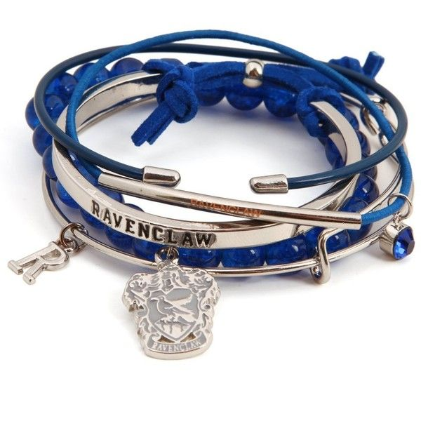 Harry Potter Ravenclaw Arm Party Bracelet Set (£7.07) ❤ liked on Polyvore featuring jewelry, bracelets and party jewelry