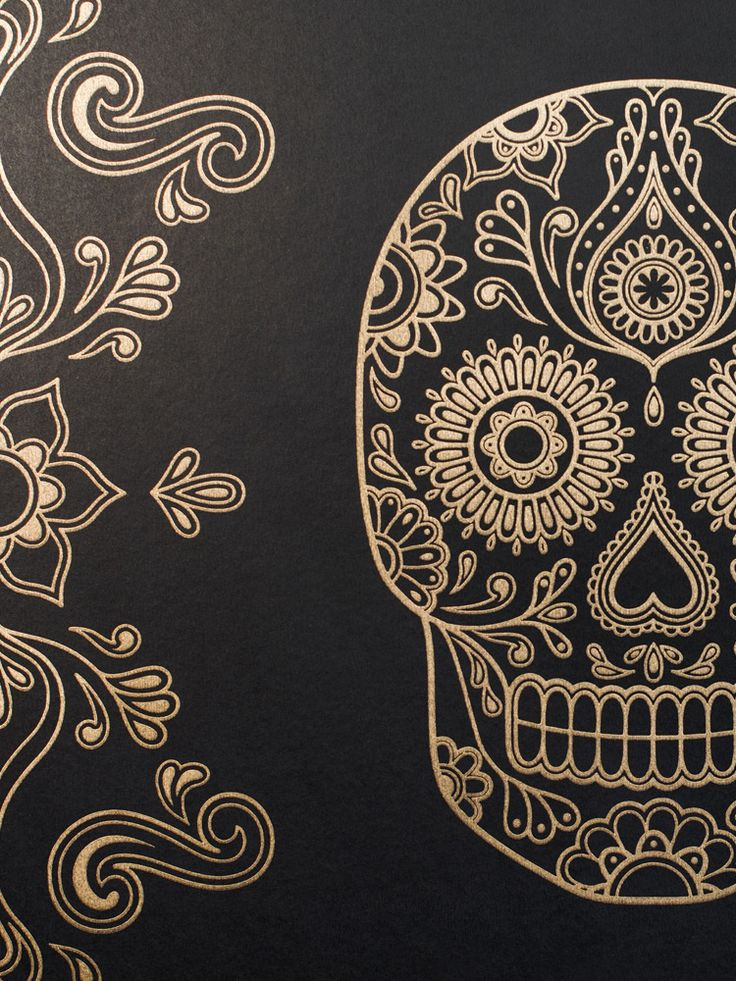 Image of Mexican Day of the Dead Sugar Skull Wallpaper