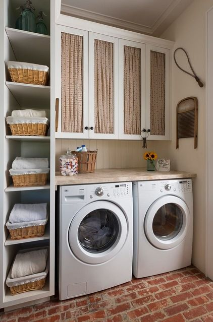 Farmhouse Laundry Room by M. Barnes & Co | Smelly Towels? | Stinky Laundry? | Washer Odor? | http://WasherFan.com | Permanently Eliminate or Prevent Washer & Laundry Odor with Washer Fan™ Breeze™ | #Laundry #WasherOdor  #SWS