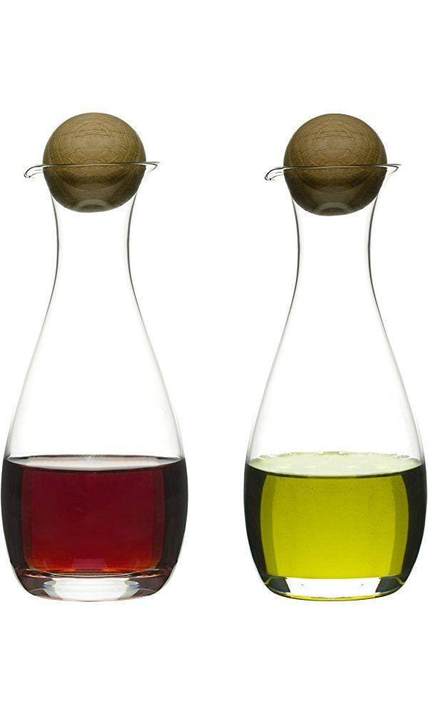 Sagaform 5015337 Oil/Vinegar Bottles with Oak Stoppers, 2-Pack Best Price
