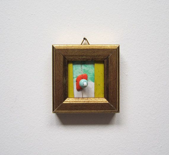 Piccolo arte astratta regalo laurea spilla regalo collana regalo Natale decorazione casa regalo pezzo unico tendenza moda compleanno unisex
