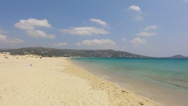 Long sandy beach, Naxos