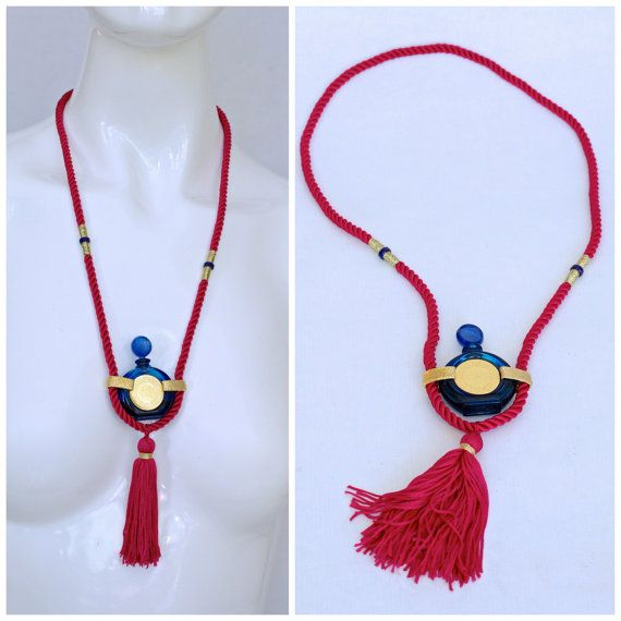 Reserved  Vintage ROCHAS BYZANCE Tassel Perfume Necklace
