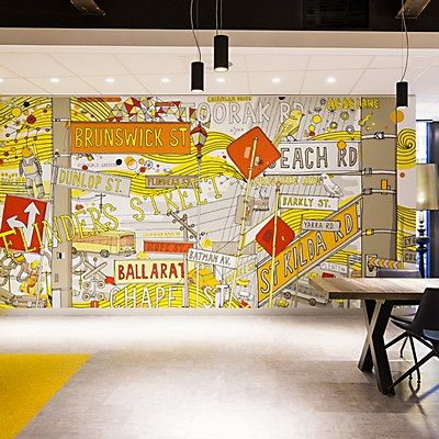 Commonwealth bank environmental graphics creative space for Environmental graphics wall mural