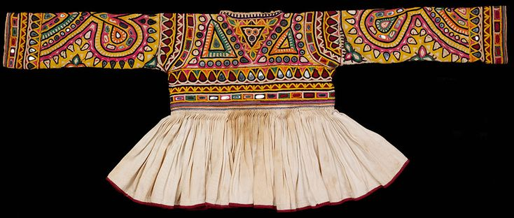 Rabari childs jacket cotton embroidered with silk Kutch, 20th century, Victoria and Albert Museum, London