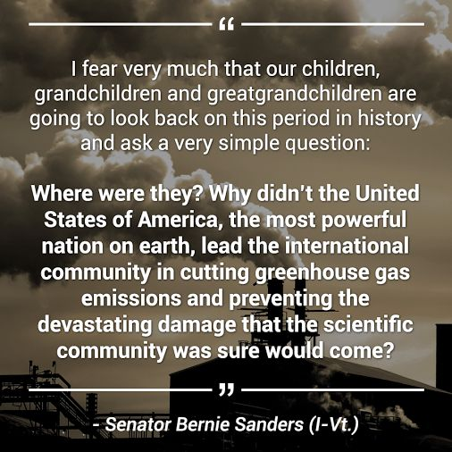 Once again, Bernie Sanders voices my thoughts.