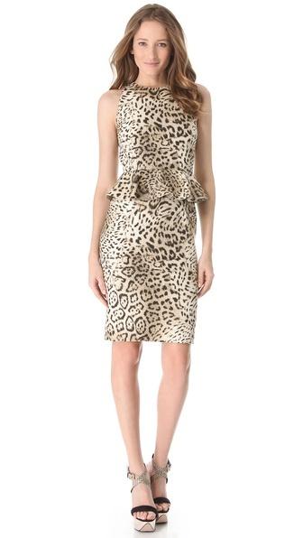 Giambattista Valli Leopard Peplum Dress