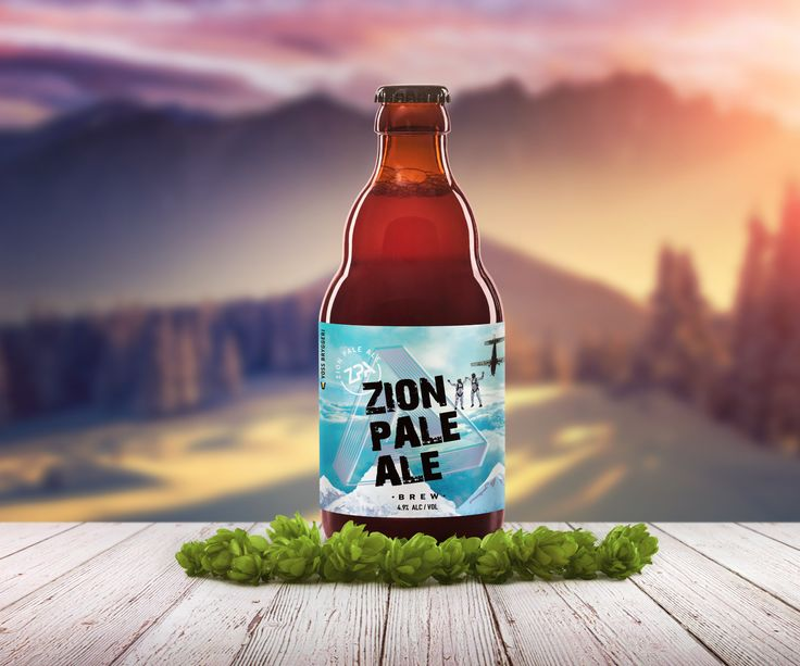Zion Norway Free fly Skydiving Team Pale Ale Beer Label by B Smart Designs  www.bsmartdesigns.com