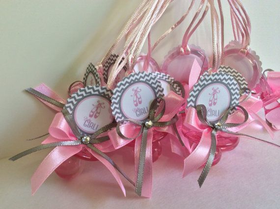 Ballerina Baby Shower Pacifiers Chevron By Marshmallowfavors