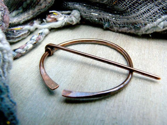 Exceptional Antiqued Copper Penannular Brooch, Viking Pin By AdornWireStudio Pin To  Save Or Click To Buy