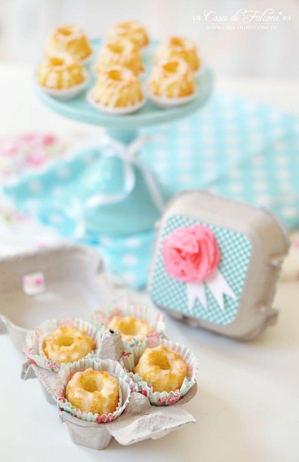 Mini-Gugelhupf I Eierschachtel I Eierbox I Homemade Aufkleber I Geschenke aus der Küche I Casa di Falcone