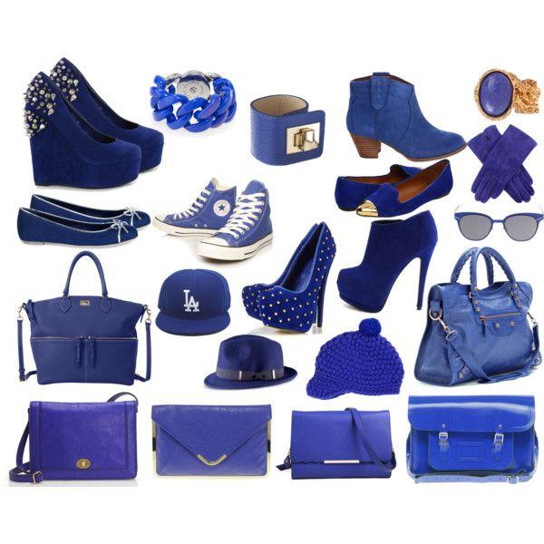Vestido largo azul electrico complementos
