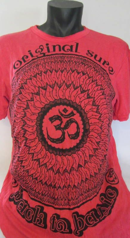 MANDALA & OM   Red Cotton T Shirt by isoleynz on Etsy