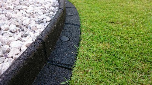 1M Flexiborder Garden Edging In Black H8Cm By Ecoshape 400 x 300