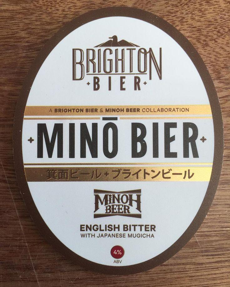 イギリスBrighton Bierとのコラボレーションビール MINO BIERMUGICHA BITTER 明日あたりからビアパブで繋がります ぜひお試しを #minohbeer#箕面ビール #minohbeerwarehouse #箕面ビールウェアハウス #bitter#brightonbier by minohbeer