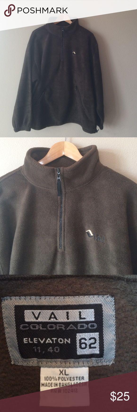 Men's Fleece Jacket XL Hardly used, great condition - like new! Vail Colorado Fleece. Dark brown color. Vail Colorado Jackets & Coats Ski & Snowboard