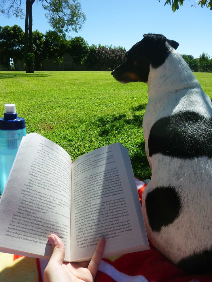 "'On a lovely weekend morning you will find me with my ""reading buddy"" sprawled out on the lawn under a tree, soaking up the start of a beautiful day.   Towel, water, sunglasses and a book I can't put down are essential to a perfect lazy morning in my favourite reading spot!'  -Alicia"