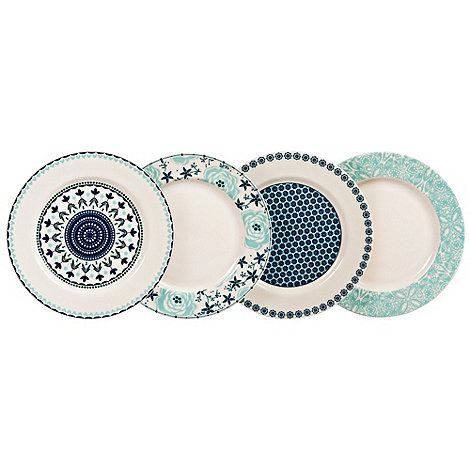 Denby Denby fine china 'Monsoon Antalya' plate set- at Debenhams.com