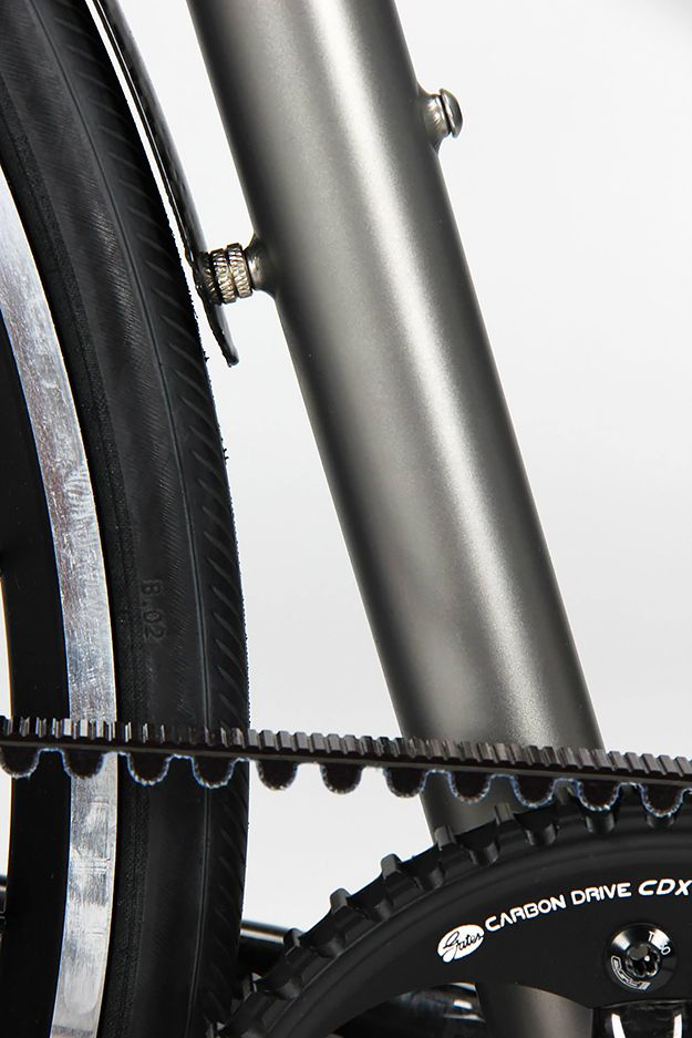 Firefly Bicycles Ti Commuter - titanium frame, belt drive, internal cable routing.