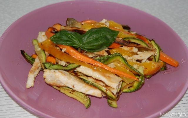 Insalata di pollo con verdure grigliate, scopri le ricette: http://www.misya.info/ricetta/insalata-di-pollo-con-verdure-grigliate.htm