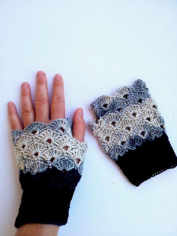 Fingerless Crochet Gloves / Gift Guide / Special by gloveshop, $25.00