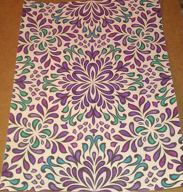 purple pink blue patterns coloring pages finished geometric designs posh coloring books color pastels love to color color to live