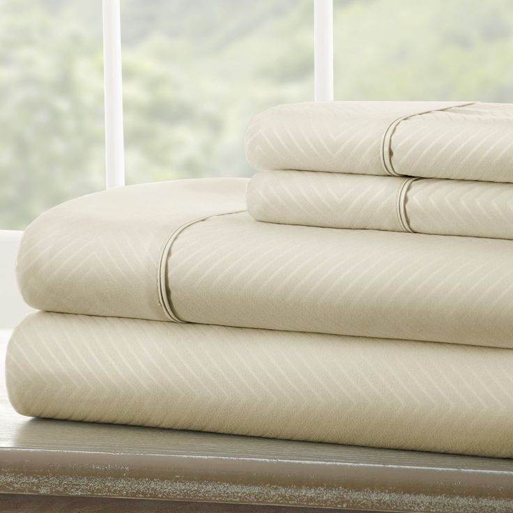 Roxane™ Double-Brushed Chevron Sheet Set