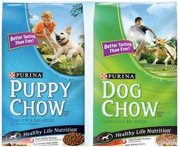 Starting the week of 1/25, both CVS and Rite Aid will have Purina Dog and Puppy Chow on sale for $5.99, so here's how to work your deal:  Buy 2 Purina Dog or Puppy Chow 4-4.4 lbs. $5.99 each ($11.98) Use B1G1 Purina Dog Food coupon Final Price: 2/$5.99 ($3 each!)