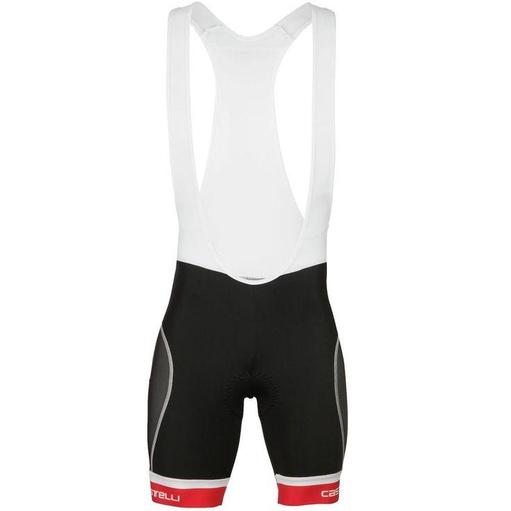 Castelli Free Tri Bib Short - Men's White/Black/Red L #Castelli #MensTriathlonClothing