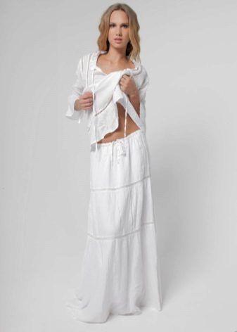 Юбки из льна (75 фото): с чем носить льняные юбки, фасоны, летние, длинные в пол и короткие модели, Бохо