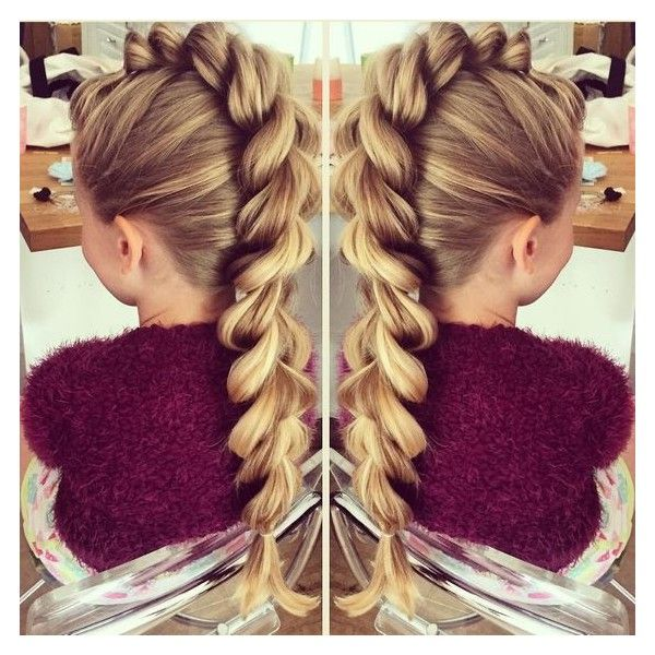 Mohawk Pull-Through Braid by SweetHearts Hair Design ❤ liked on Polyvore featuring accessories