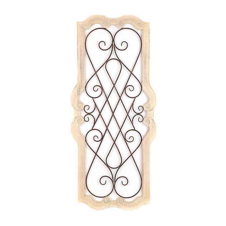 Cream josephine scroll plaque kirklands wall decor