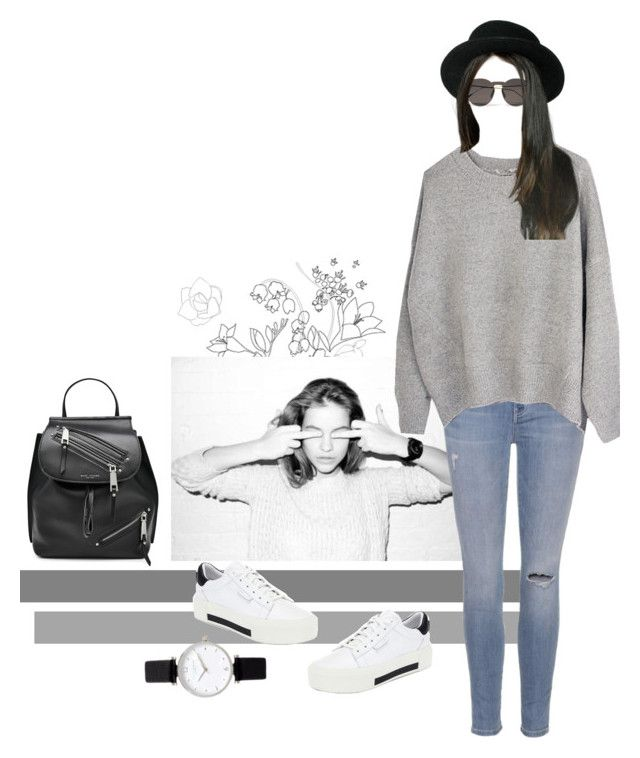 """Untitled #132"" by kryssicha on Polyvore featuring Current/Elliott, Kendall + Kylie, Illesteva, Marc Jacobs and Topshop"
