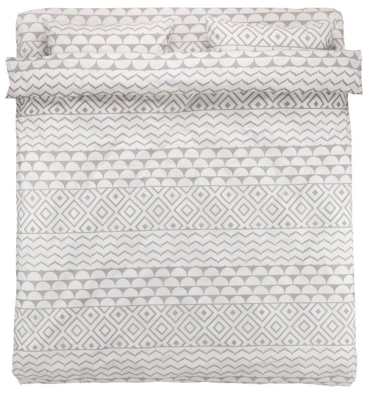 Lenjerie pat+cearsaf REGINA dublă gri | JYSK
