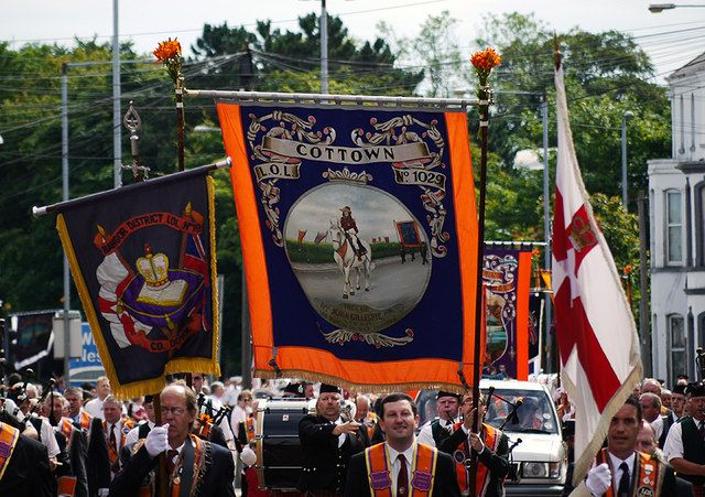 July 12, 1690 - Orangeman's Day - Protestant Victory in Ireland at the Battle of Goyne when William of Orange defeats King James II