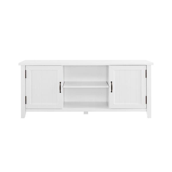 White Modern Farmhouse 2 Door Media Cabinet In 2020 Saracina Home Walker Edison Furniture Company Tv Stand