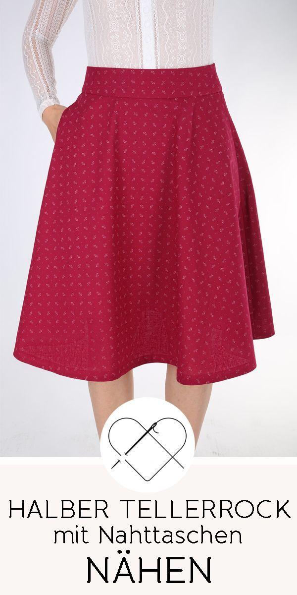 Tellerrock nähen  #WomanSkirts  Einen Tellerrock einfach selber nähen – mit …