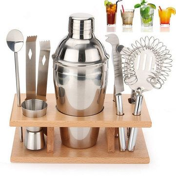 Stainless Steel Cocktail Shakers Mixer Drink Bartender i Bar Set Tools Kit