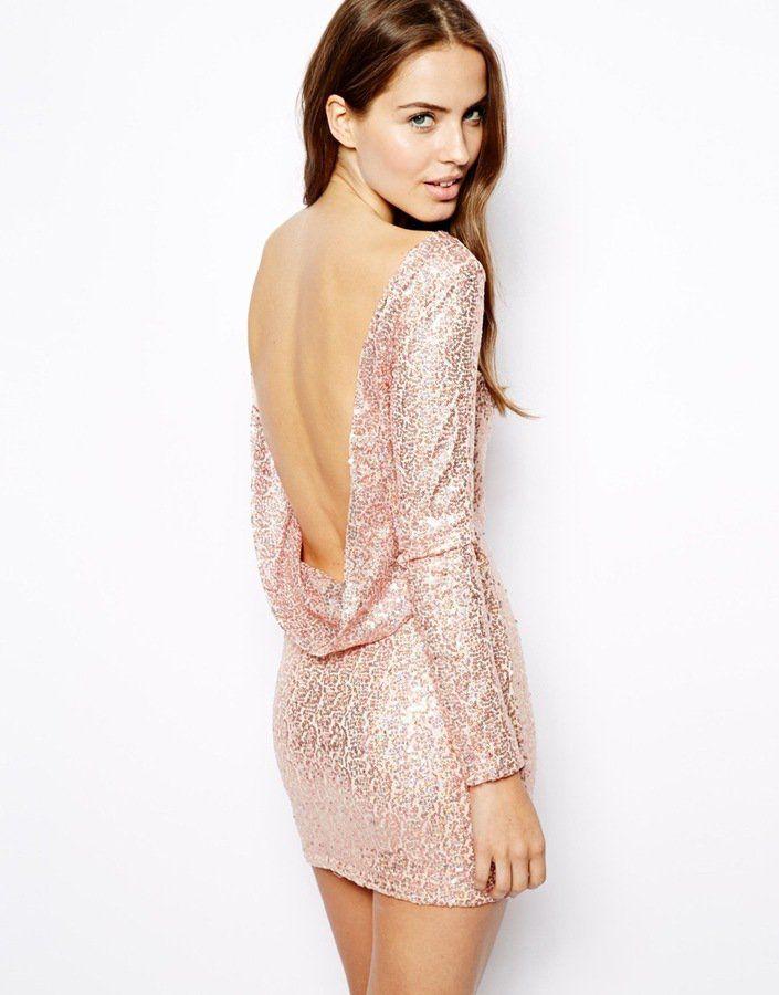 Pin for Later: 27 Kleider für den Junggesellinnenabschied Viva Las Vegas Club L Sequin Dress with Drape Back ($54)